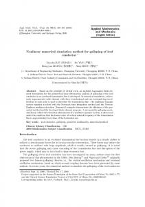 Nonlinear numerical simulation method for galloping of iced conductor