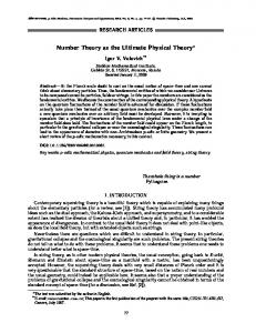 Number theory as the ultimate physical theory