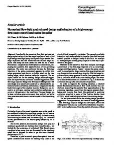 Numerical flow-field analysis and design optimization of a high-energy first-stage centrifugal pump impeller