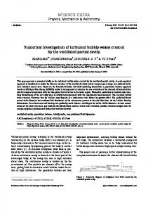 Numerical investigation of turbulent bubbly wakes created by the ventilated partial cavity