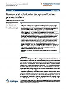 Numerical simulation for two-phase flow in a porous medium