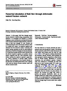 Numerical simulation of fluid flow through deformable natural fracture network