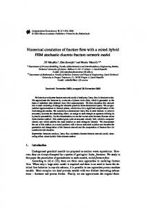 Numerical simulation of fracture flow with a mixed-hybrid FEM stochastic discrete fracture network model