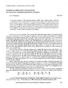Numerical simulation of fracture of plates by confined explosive charges