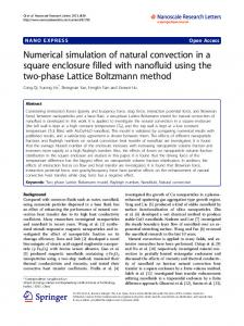Numerical simulation of natural convection in a square enclosure filled with nanofluid using the two-phase Lattice Boltzmann method