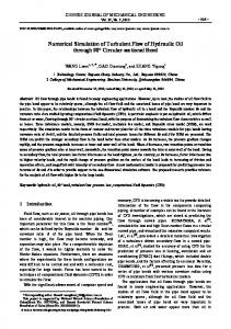 Numerical simulation of turbulent flow of hydraulic oil through 90° circular-sectional bend