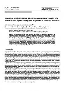 Numerical study for forced MHD convection heat transfer of a nanofluid in a square cavity with a cylinder of constant heat flux