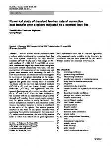 Numerical study of transient laminar natural convection heat transfer over a sphere subjected to a constant heat flux