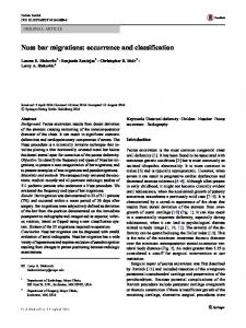 Nuss bar migrations: occurrence and classification