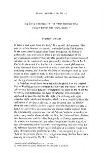 Nyāya critique of the Buddhist doctrine of non-soul