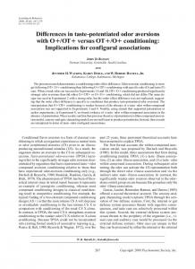 O+ conditioning: Implications for configural associations