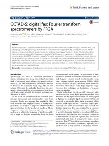 OCTAD-S: digital fast Fourier transform spectrometers by FPGA