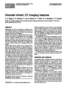 Omental infarct: CT imaging features