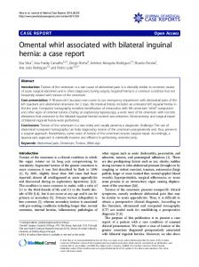 Omental whirl associated with bilateral inguinal hernia: a case report