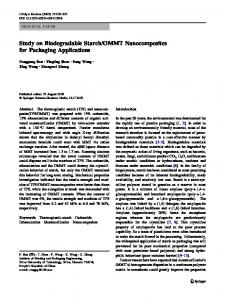 OMMT Nanocomposites for Packaging Applications