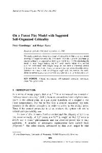 On a forest fire model with supposed self-organized criticality