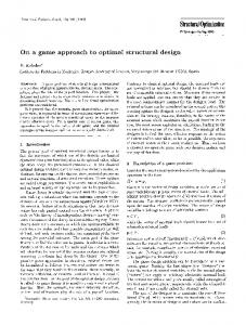 On a game approach to optimal structural design