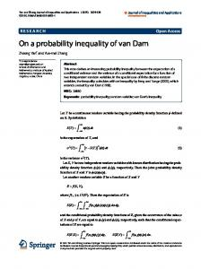 On a probability inequality of van Dam