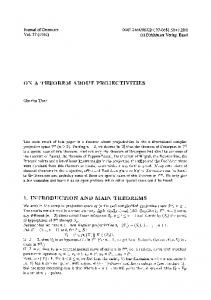 On a theorem about projectivities
