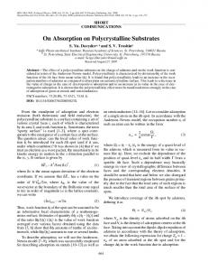On absorption on polycrystalline substrates