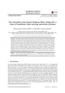 On extended state based Kalman filter design for a class of nonlinear time-varying uncertain systems