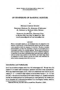 On extensions of rational modules