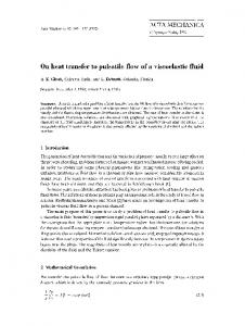 On heat transfer to pulsatile flow of a viscoelastic fluid