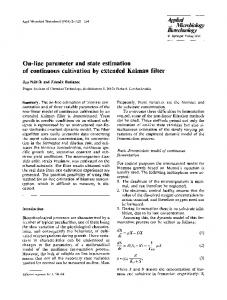 On-line parameter and state estimation of continuous cultivation by extended Kalman filter