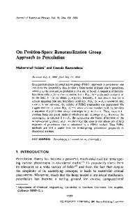 On position-space renormalization group approach to percolation