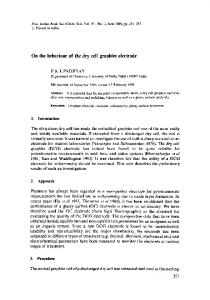 On the behaviour of the dry cell graphite electrode