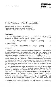 On the Clarkson-McCarthy inequalities