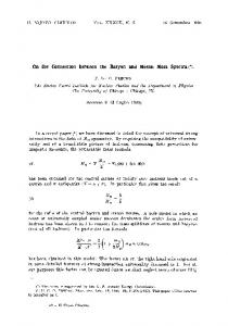 On the connection between the baryon and meson mass spectra