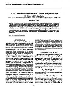 On the Constancy of the Width of Coronal Magnetic Loops