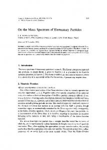 On the mass spectrum of elementary particles