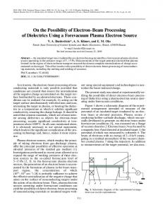 On the possibility of electron-beam processing of dielectrics using a forevacuum plasma electron source