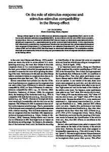 On the role of stimulus-response and stimulus-stimulus compatibility in the Stroop effect
