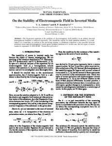 On the stability of electromagnetic field in inverted media