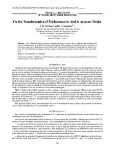 On the transformation of trichloroacetic acid in aqueous media