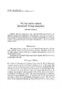 On the vector valued Hausdorff-Young inequality