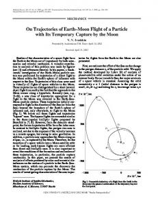 On trajectories of Earth-Moon flight of a particle with its temporary capture by the Moon