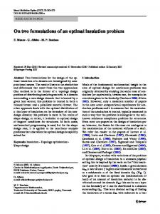 On two formulations of an optimal insulation problem