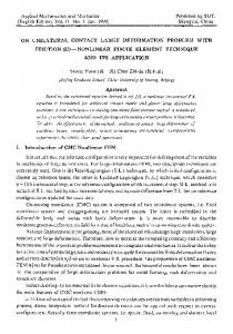 On unilateral contact large deformation problem with friction (II) — Nonlinear finite element technique and its application