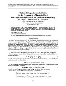 Optics of magnetoelectric media in the presence of a magnetic field and a spatial dispersion of the dielectric permittivity