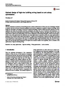 Optimal design of high-rise building wiring based on ant colony optimization