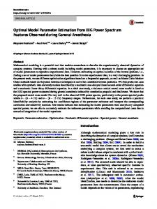 Optimal Model Parameter Estimation from EEG Power Spectrum Features Observed during General Anesthesia