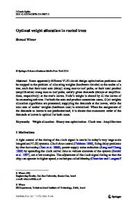 Optimal weight allocation in rooted trees