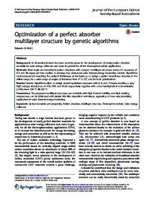 Optimization of a perfect absorber multilayer structure by genetic algorithms
