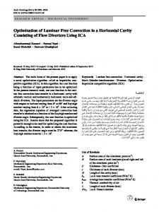 Optimization of Laminar Free Convection in a Horizontal Cavity Consisting of Flow Diverters Using ICA