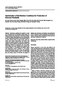 Optimization of sterilization conditions for production of retorted meatballs