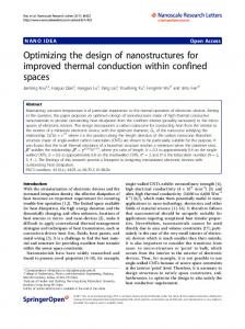 Optimizing the design of nanostructures for improved thermal conduction within confined spaces